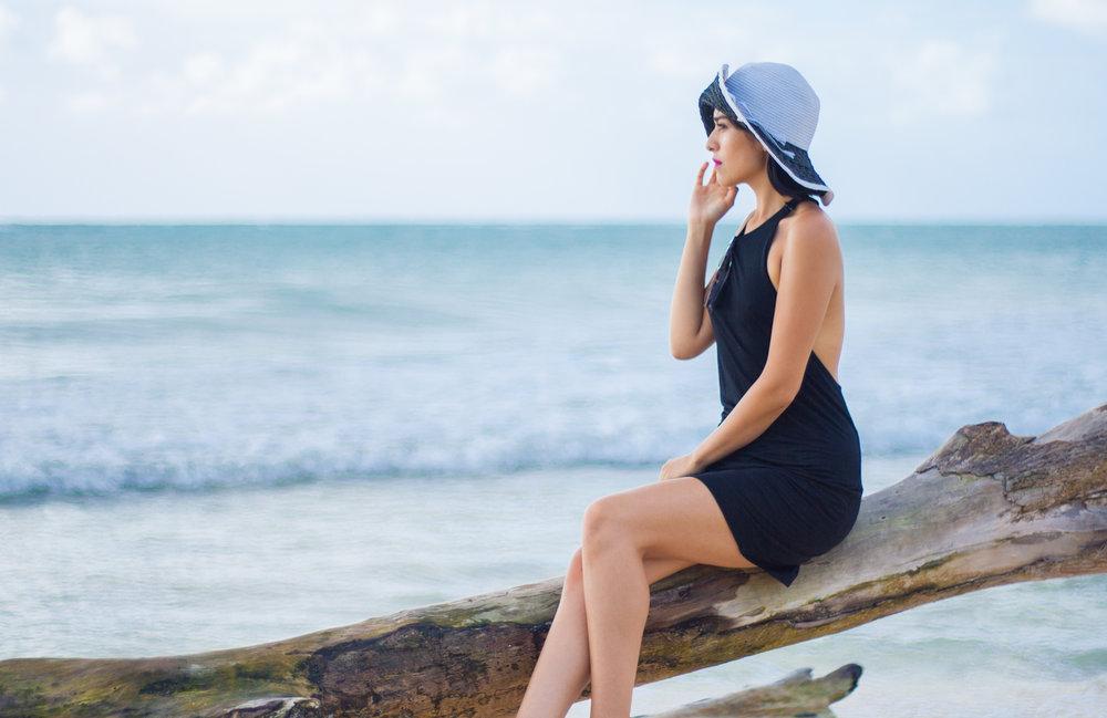 Black dress: ZARA