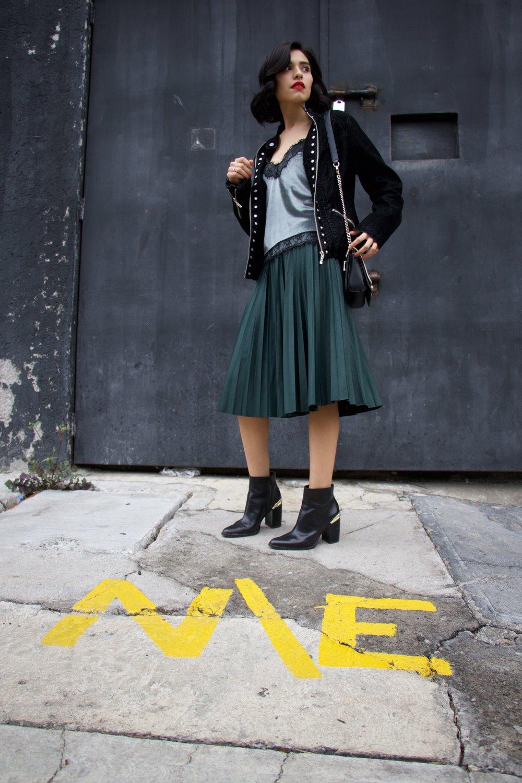 Skirt: Mango    Boots: Zara