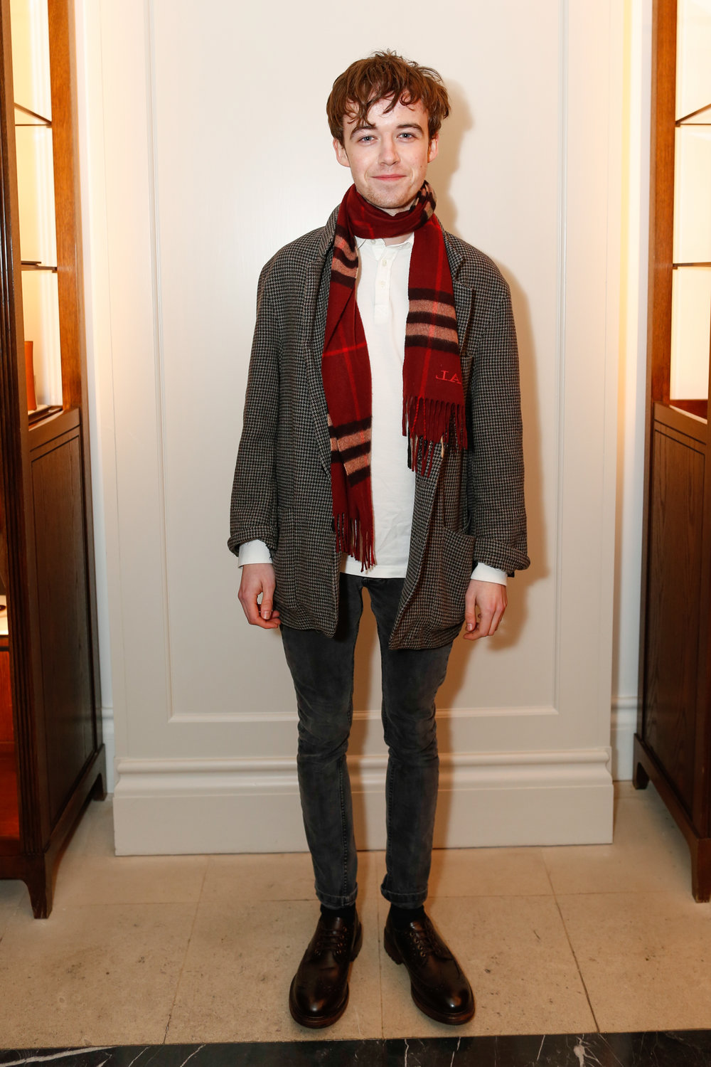 Alex Lawther at the Burberry So It Goes event at Thomas's, London, 9th February 2016