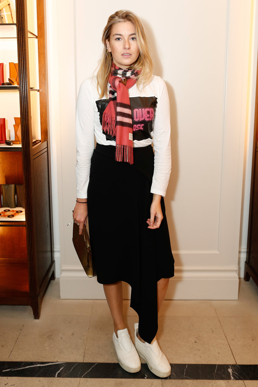 Camille Charriere at the Burberry So It Goes event at Thomas's, London, 9th February 2016