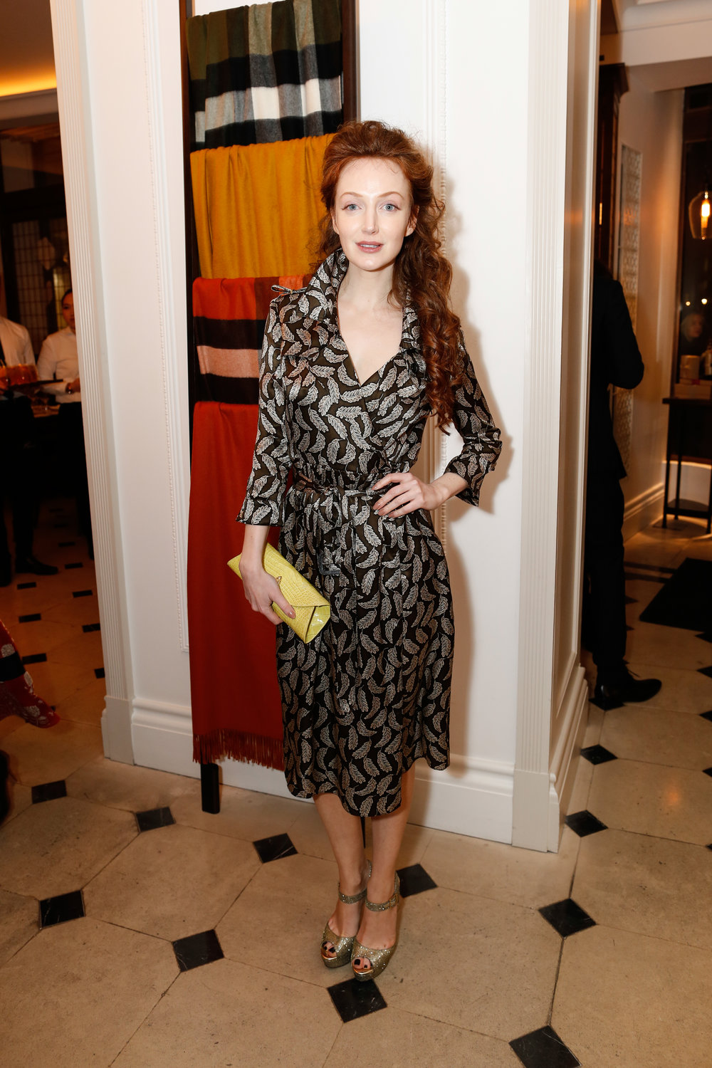 Olivia Grant wearing Burberry at the Burberry So It Goes event at Thomas's, London, 9th February 2016