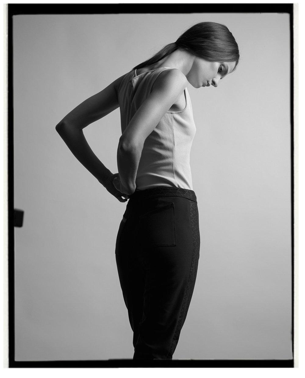 Top: Calvin Klein; Trousers: Atelier Pichita