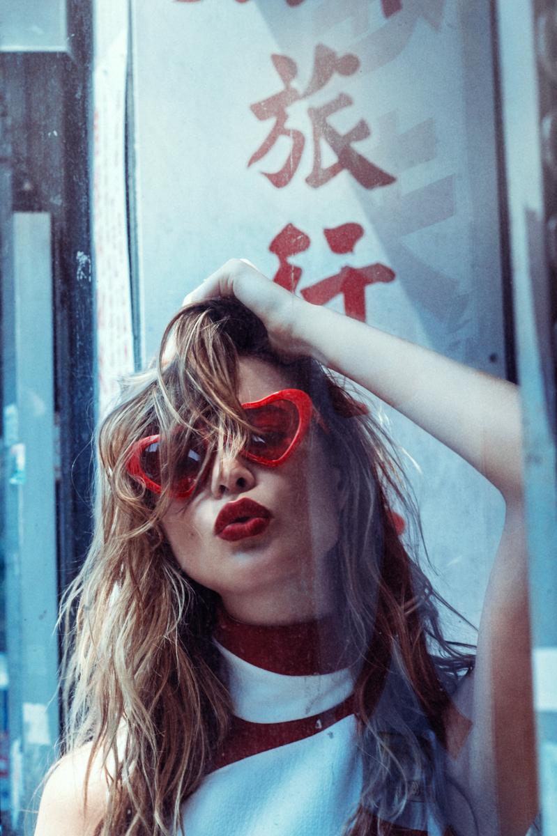 Dress: Christian Dior; Sunglasses: Stylist's own