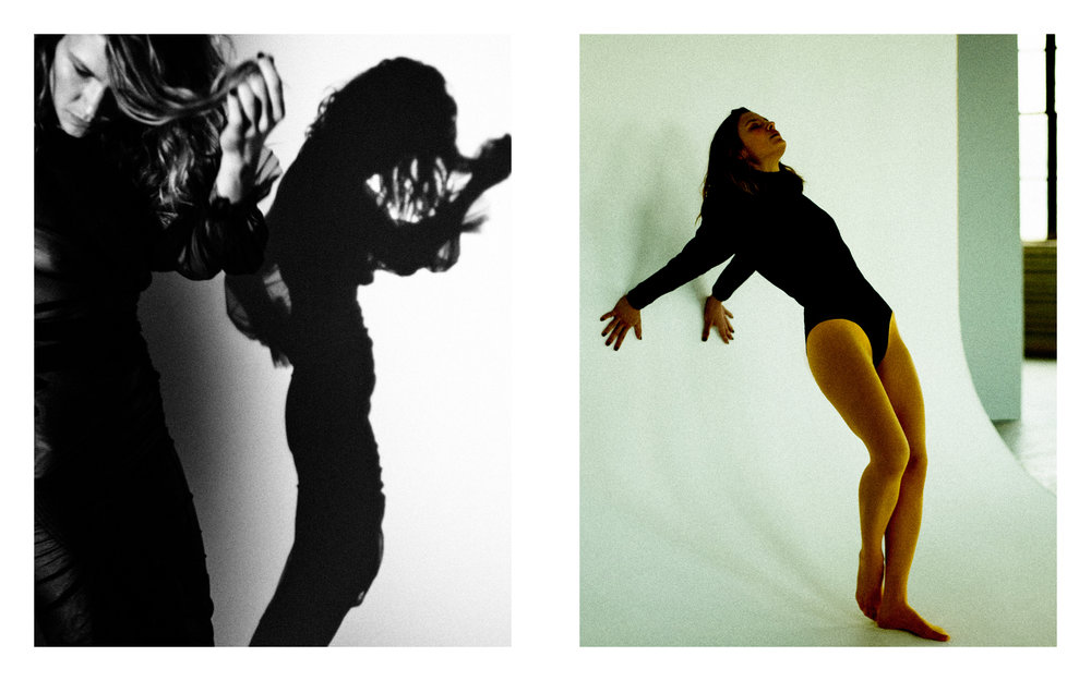 LEFT Dress: Preen by Thornton Bregazzi  RIGHT Jumper: Isabel Marant Briefs: The Great Eros