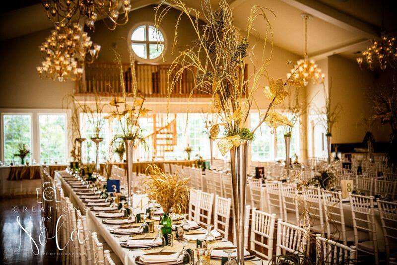 Upscale receptions in the grand hall