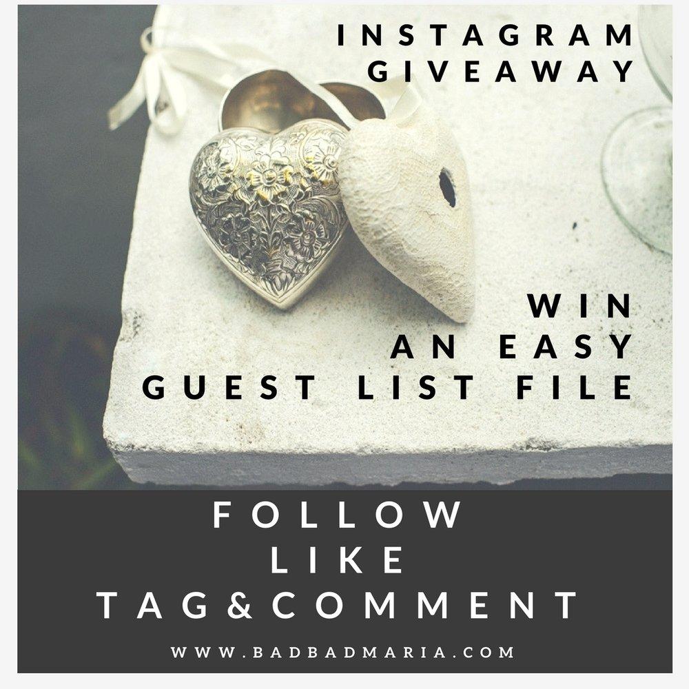 badbadmaria instagram giveaway