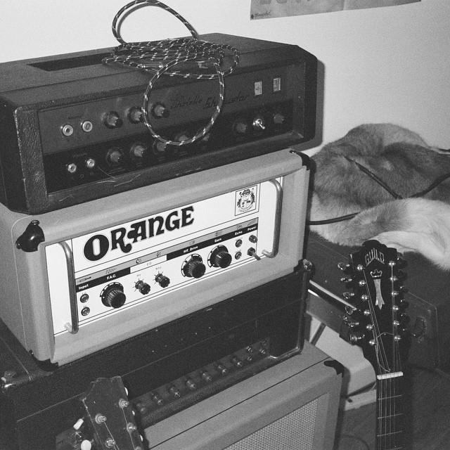 Stack it up. #Echolette / #Orange GRO50 / #Marshall JMP Tremolo 50W