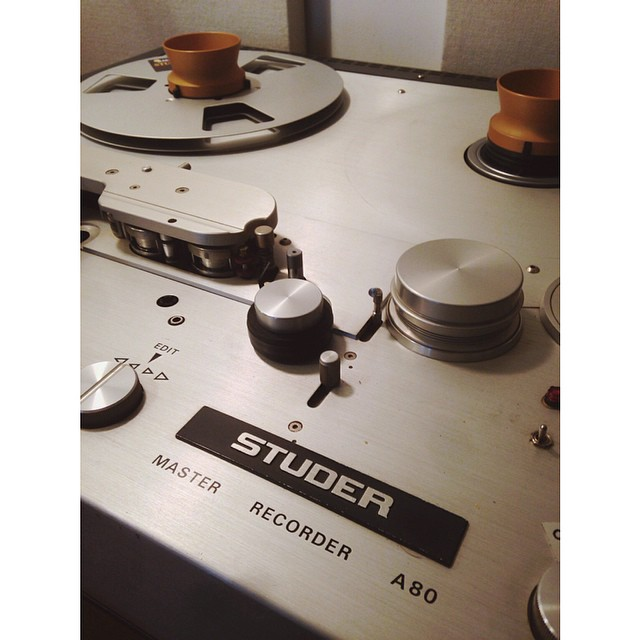 The almighty Studer A80 RC MkII. Most music coming out of the studio goes through this magic machine.