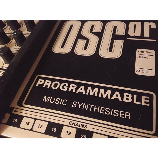Our beloved Oscarr - a very unique synth - which previously belonged to one of our heroes, Conny Plank!