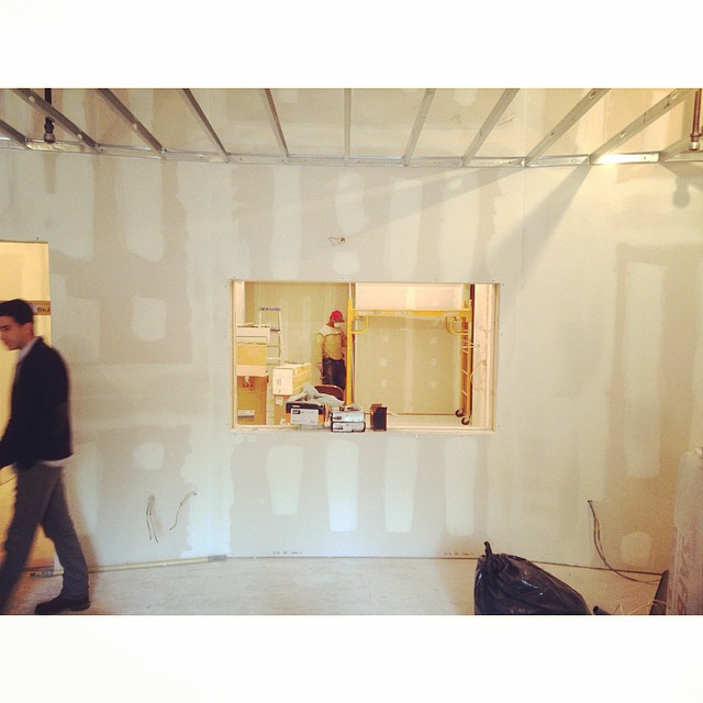 Future window between the live room and the control room. #studioconstruction