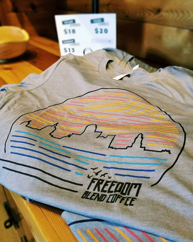 We just restocked our Skyline T-shirts! Get one before they're gone again!
