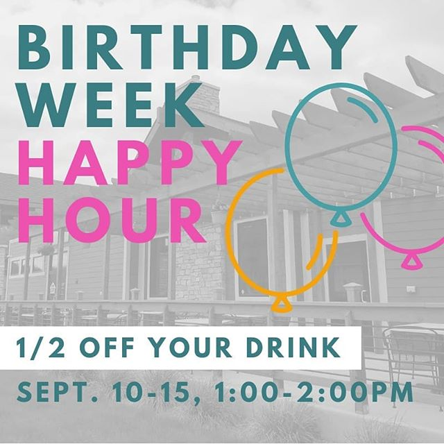 WE'RE TURNING ONE! Thank you to everyone who has supported us this first year of business! We want to celebrate YOU with happy hour from 1-2pm ALL WEEK long starting 9/10! 🎉🎉🎉