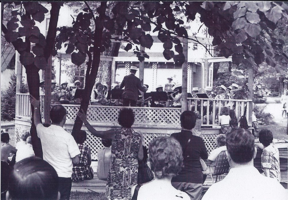 Musical Entertainment on the Village Green Circa 1970's