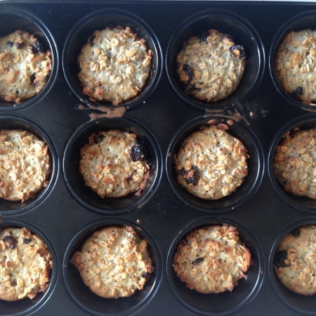 Cranberry cottage cheese baked muffins