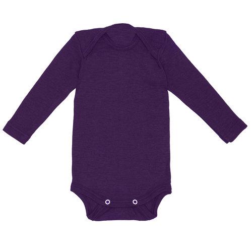 a4ba4b24e Organic Merino Wool / Silk Onesie. ls_onesie_purple_front.jpg