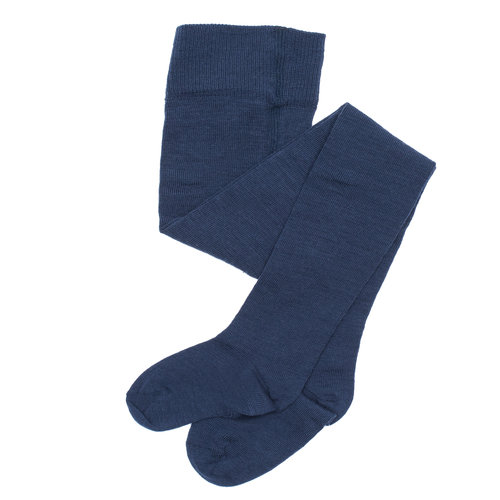 23792ce8ccd MINI LILA - Organic Merino Wool   Cotton Baby Tights in Navy and Natural