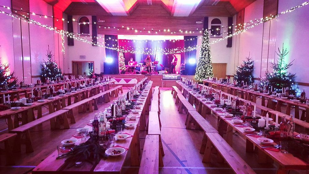 CE Christmas Feast 2015 tables are ready