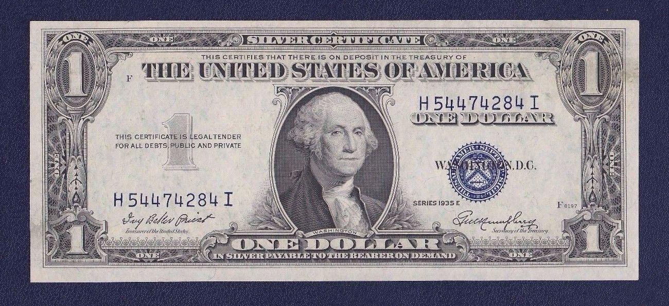 1935 E 1 Silver Certificate Root Company