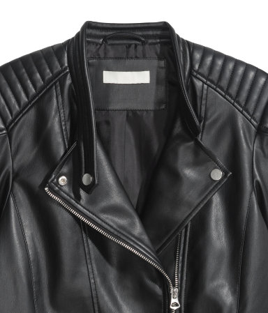 Did you know H&M has pretty good quality faux leather jackets?