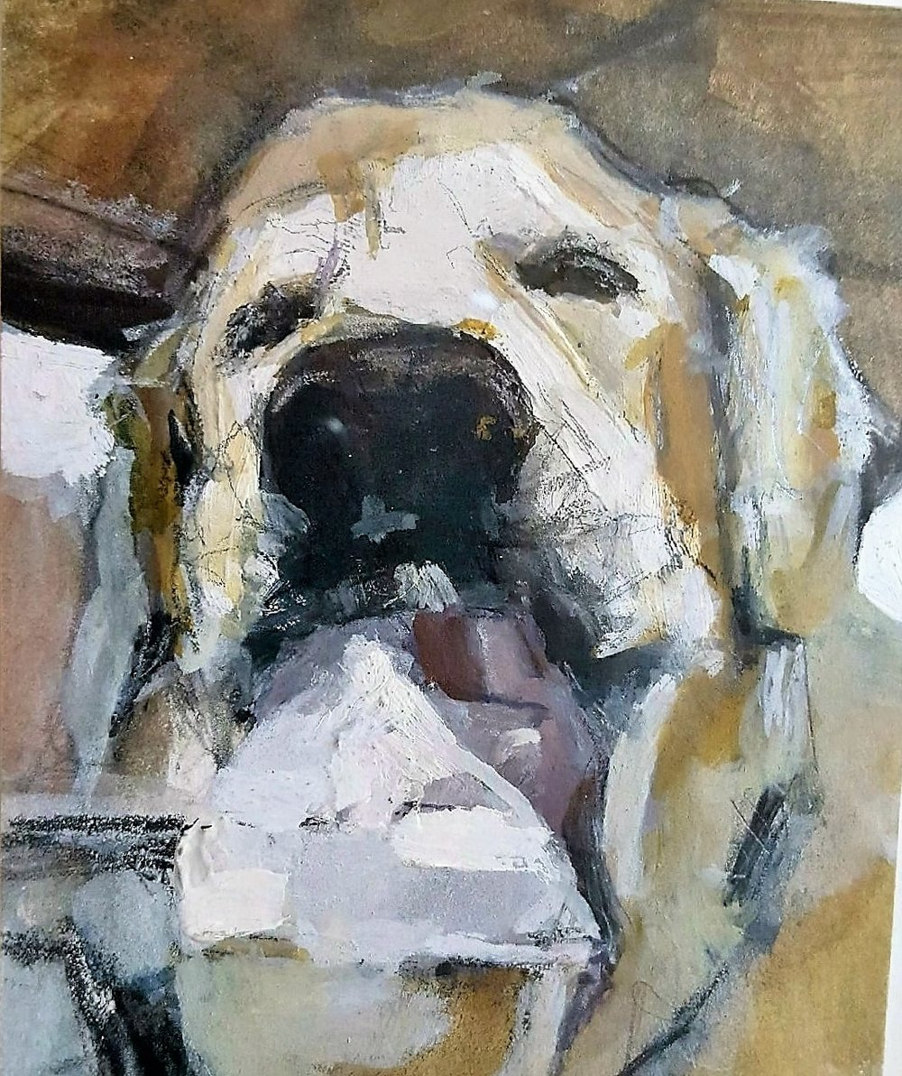 Portrait of Willie The Go 2 Pup by Melissa McCutcheon