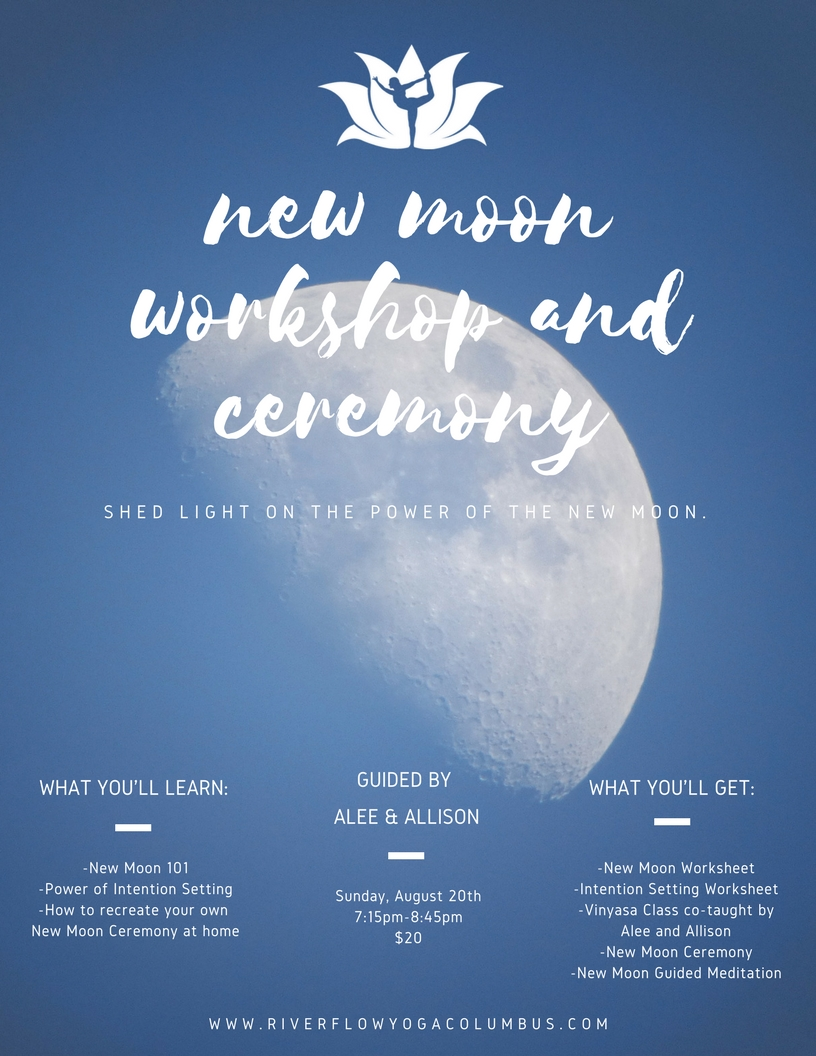 New Moon Workshop And Ceremony River Flow Yoga And Wellness