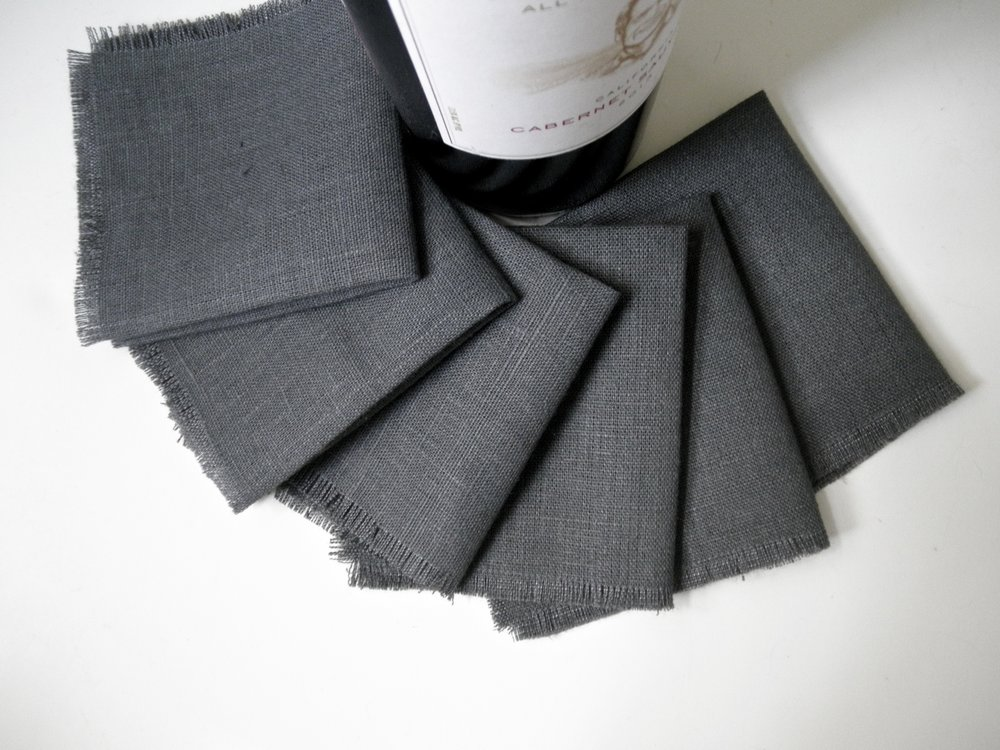 Gray Cocktail Napkins