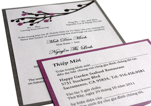 Wedding Invitations Mai Van Printing