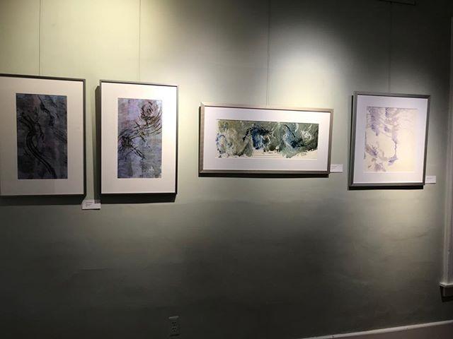 Another wall at my Kerrytown show. #art #contemporaryart  #zen #absracr