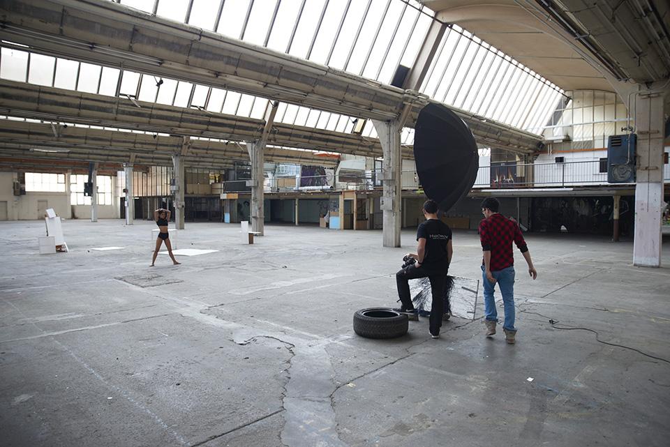 Timo Hänseler, Jakob Erpf, Sebastian Madl und Ponny Distakul beim Dreh zu dem Musikvideo Kuamka in München