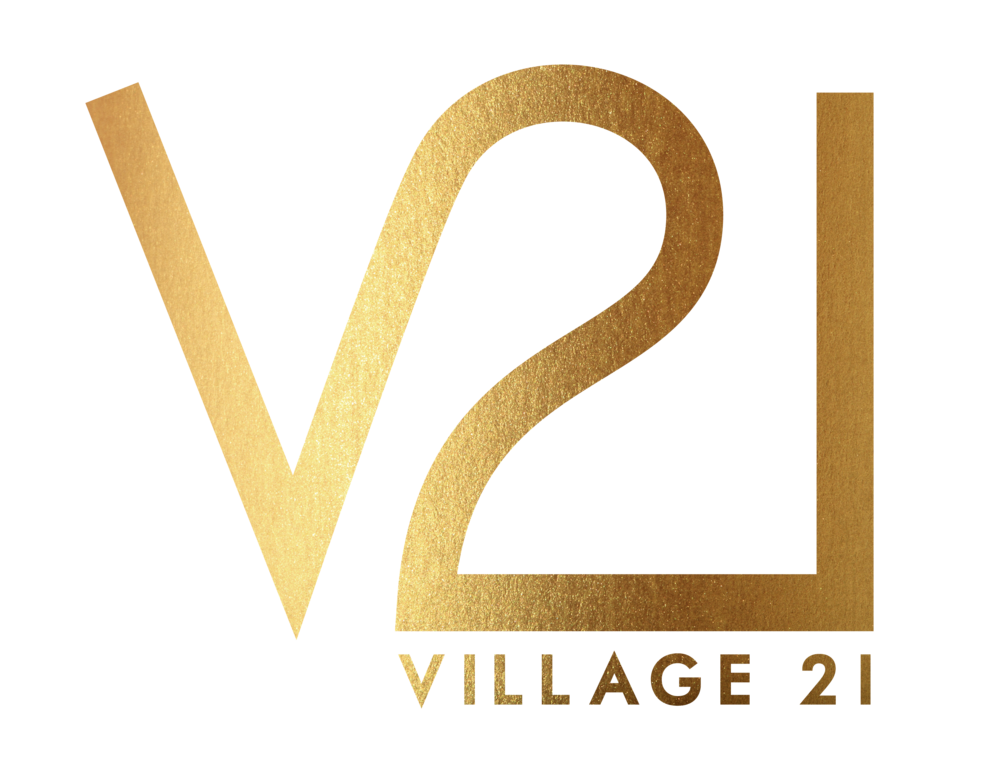 Village 21 Gold Leaf Logo