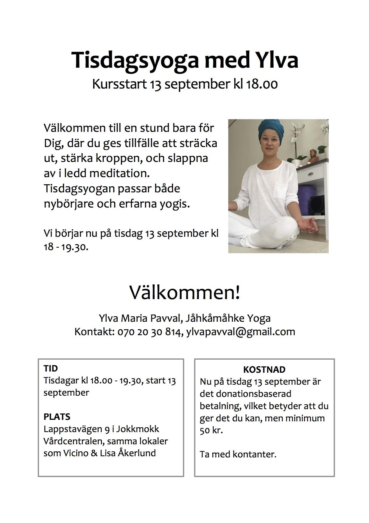 affisch-tisdagsyoga