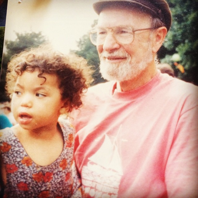 Young Moraya with grandpa Pete.