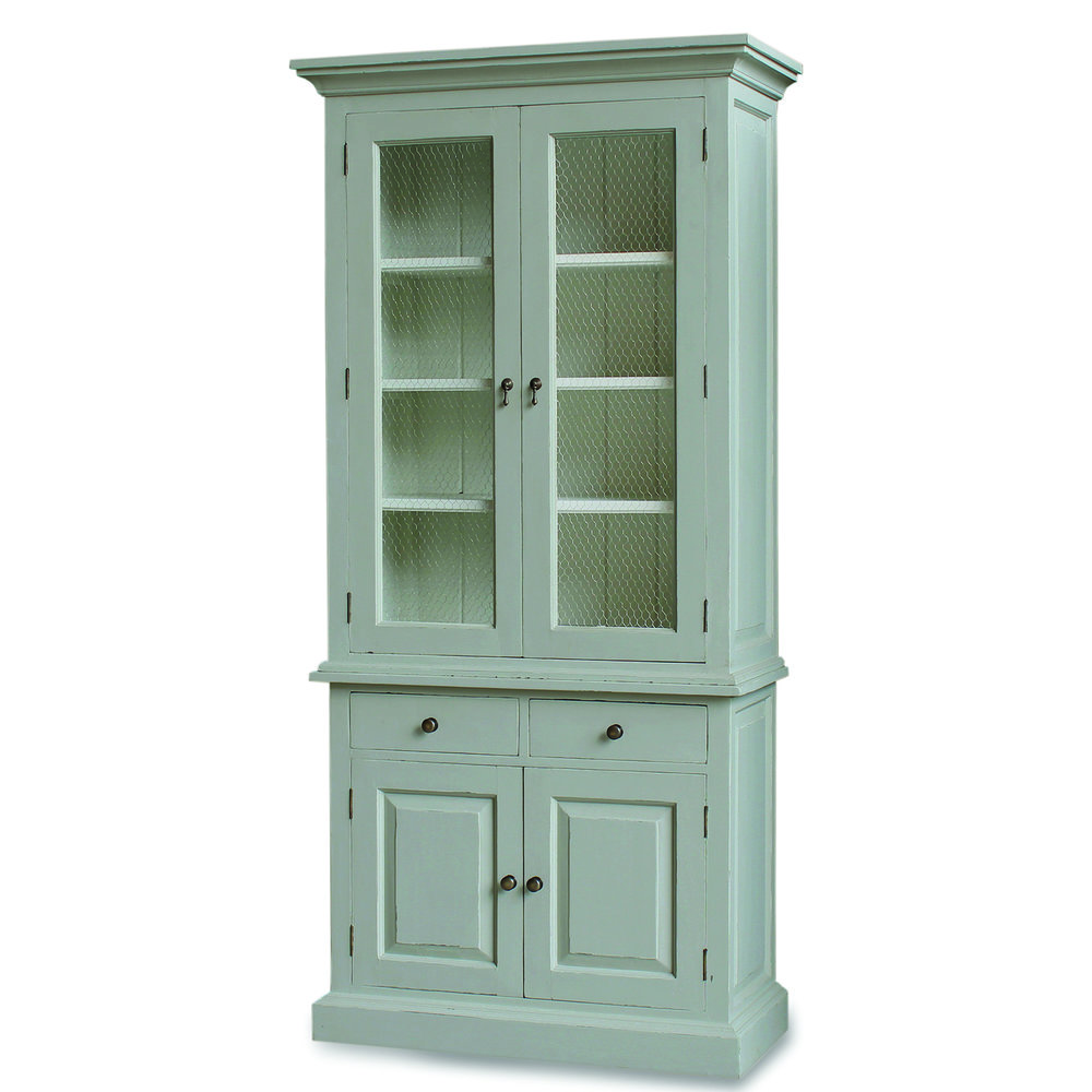 25403 Cape Cod Cabinet With Chicken Wire Doors
