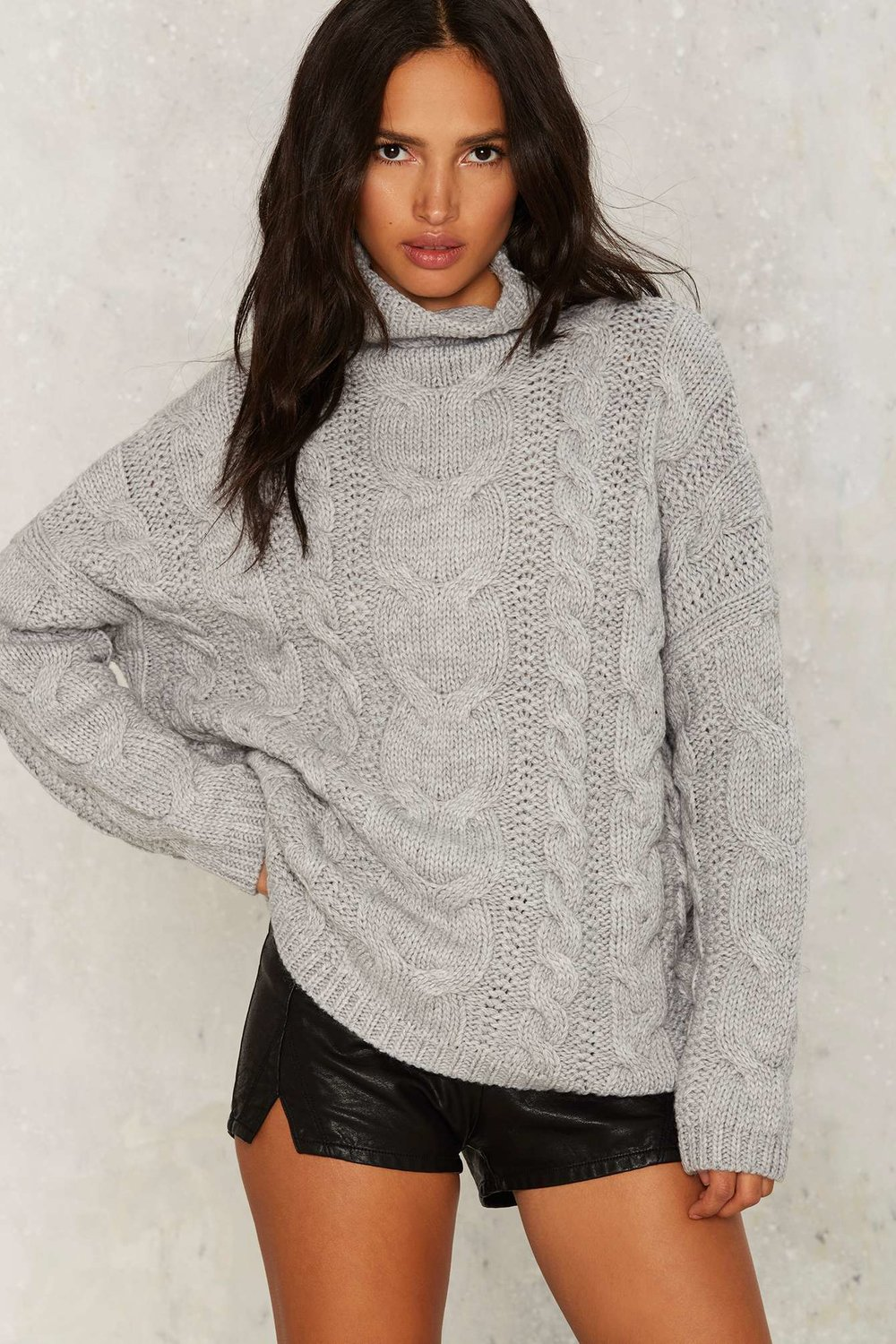 Nasty Gal | J.O.A. Ellis Cableknit Sweater