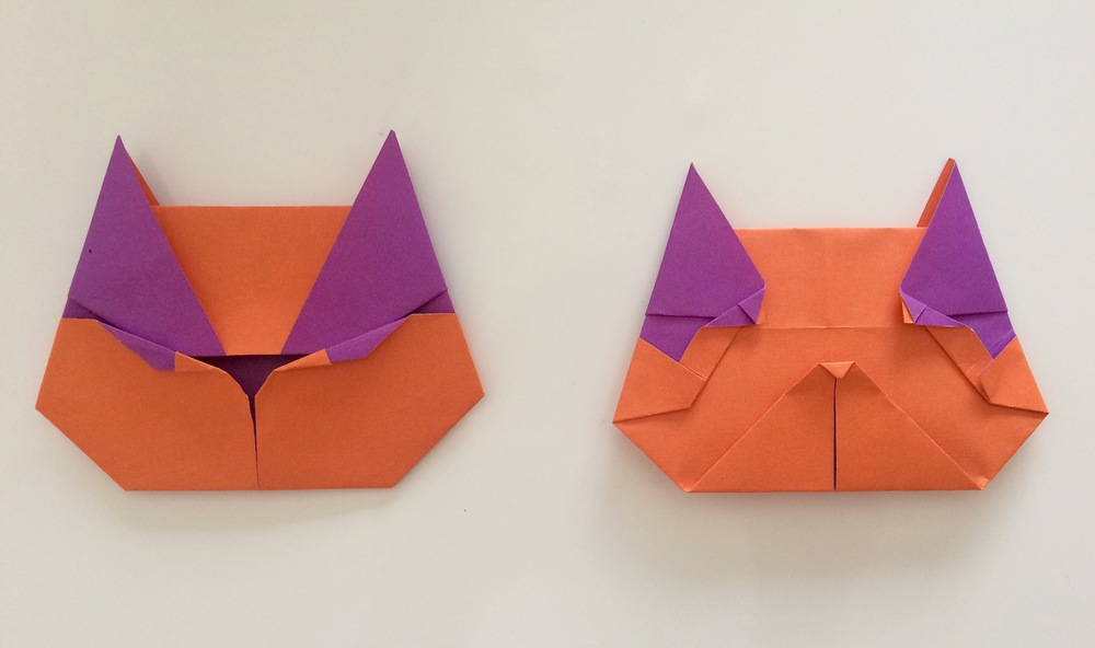 Two-faced Origami cat!