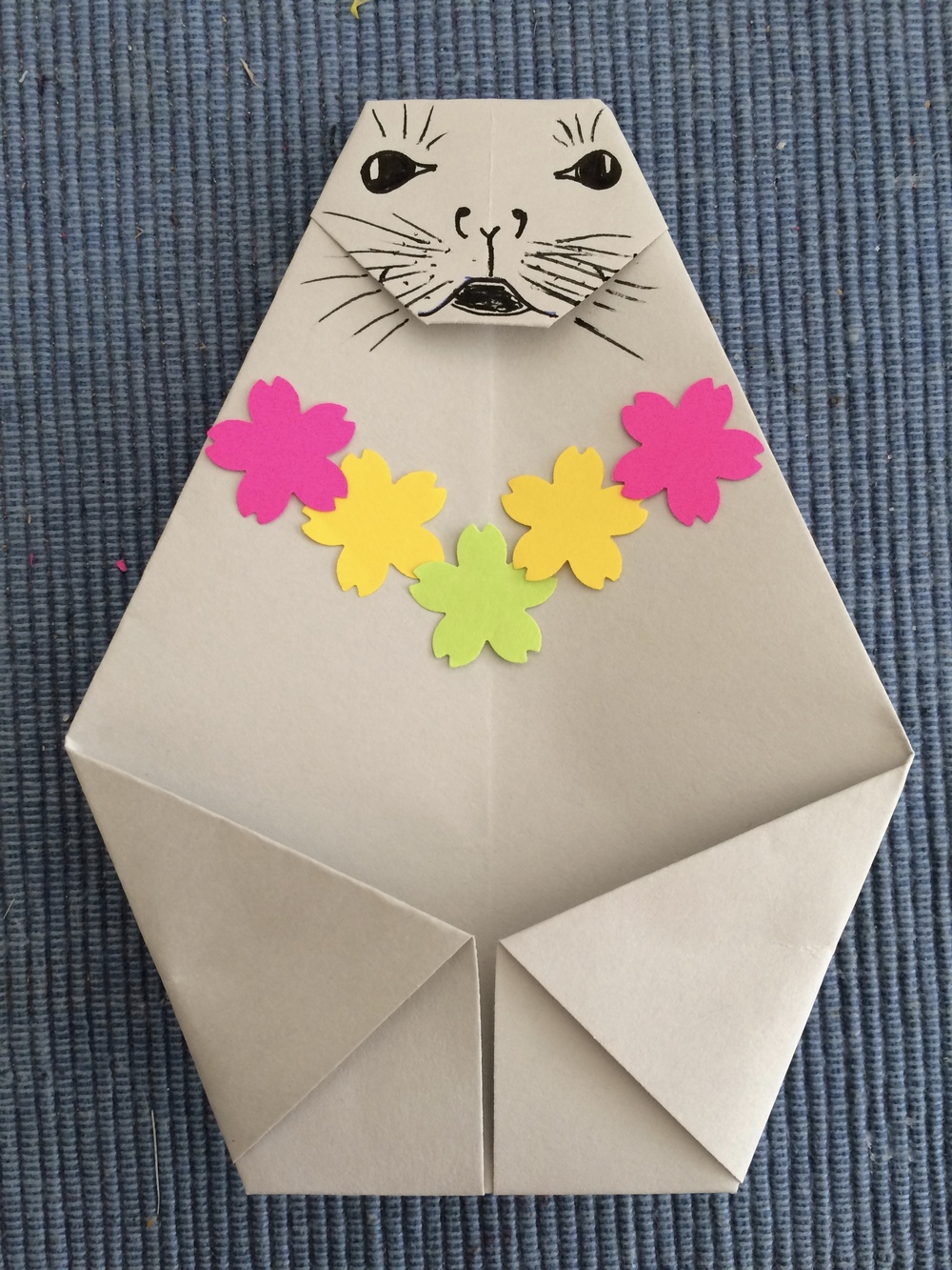 An Origami Monk Seal!