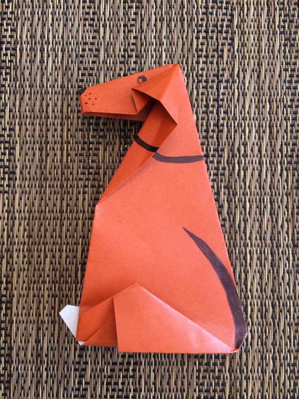 Origami Dog!