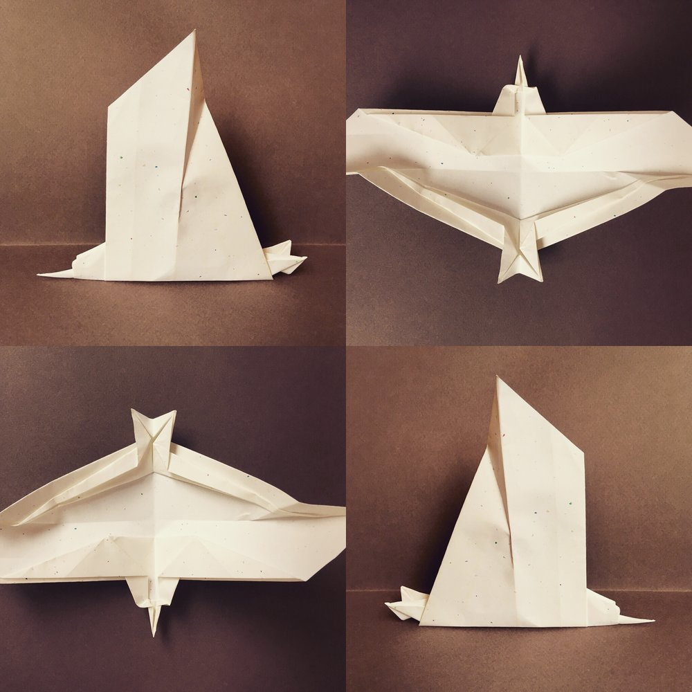 This is my design of an Origami seagull I created for a work project.