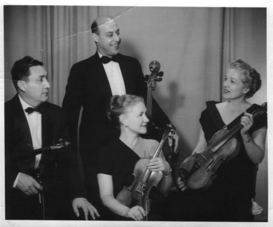 Grandma Mildred Hemsing (center) and her string quartet - Renée's inspiration & first teacher