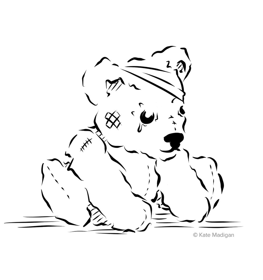 Sad bear. Drawn as a fundraiser for BBC Children In Need.