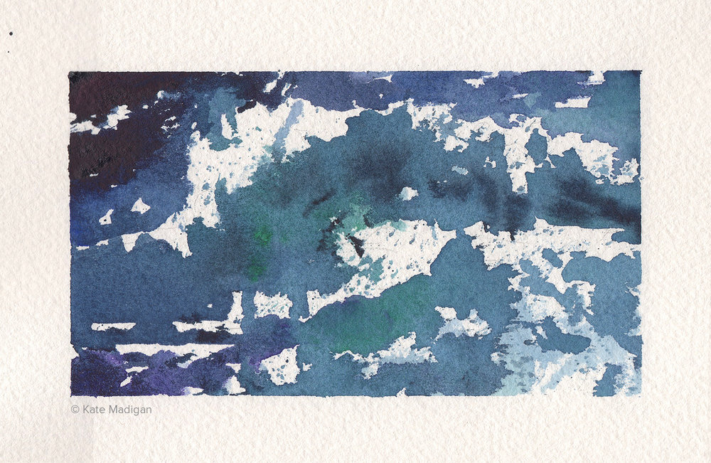 Sea Study 1. Watercolour.