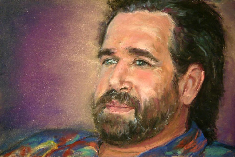 ROB ROBB PORTRAIT - PASTEL ON PAPER