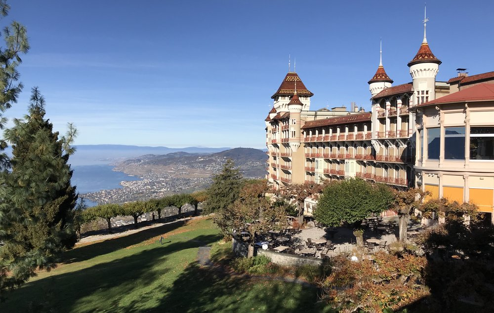 Caux Palace, converted hotel is now the campus for the Swiss Hospitality and Management School.