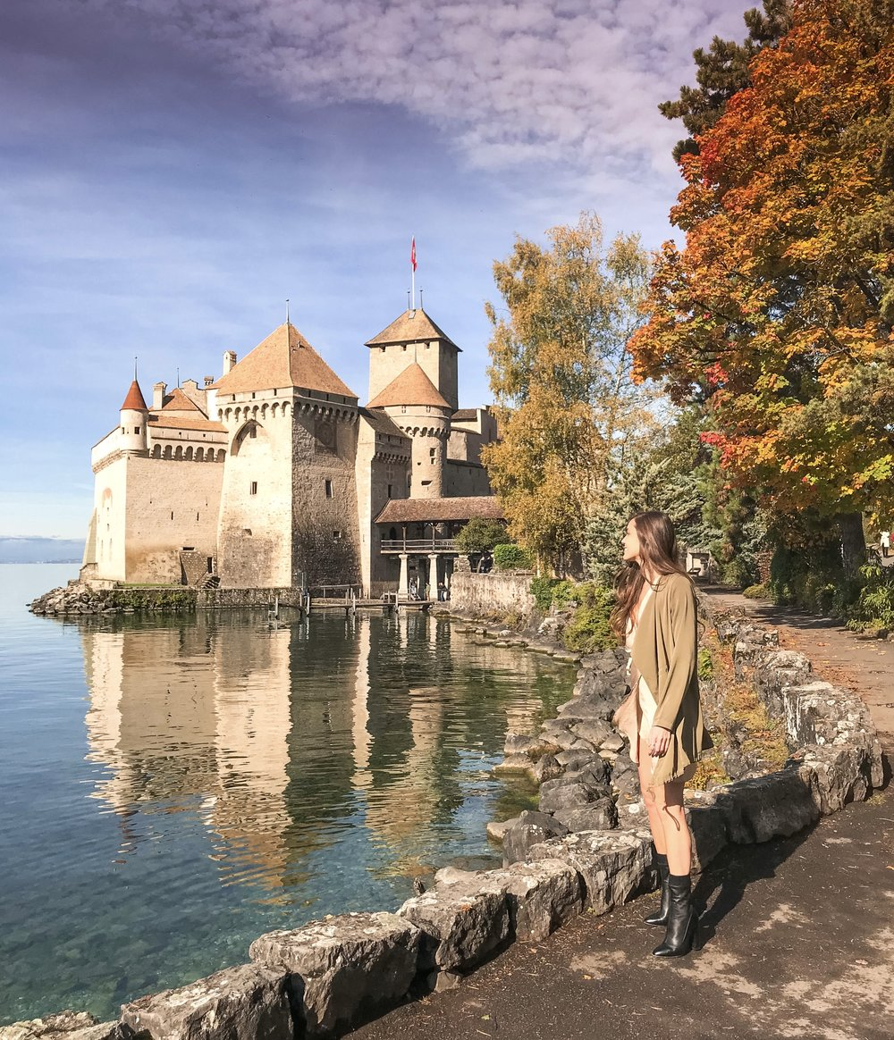 Chateau de Chillon near Montreux, Switzerland