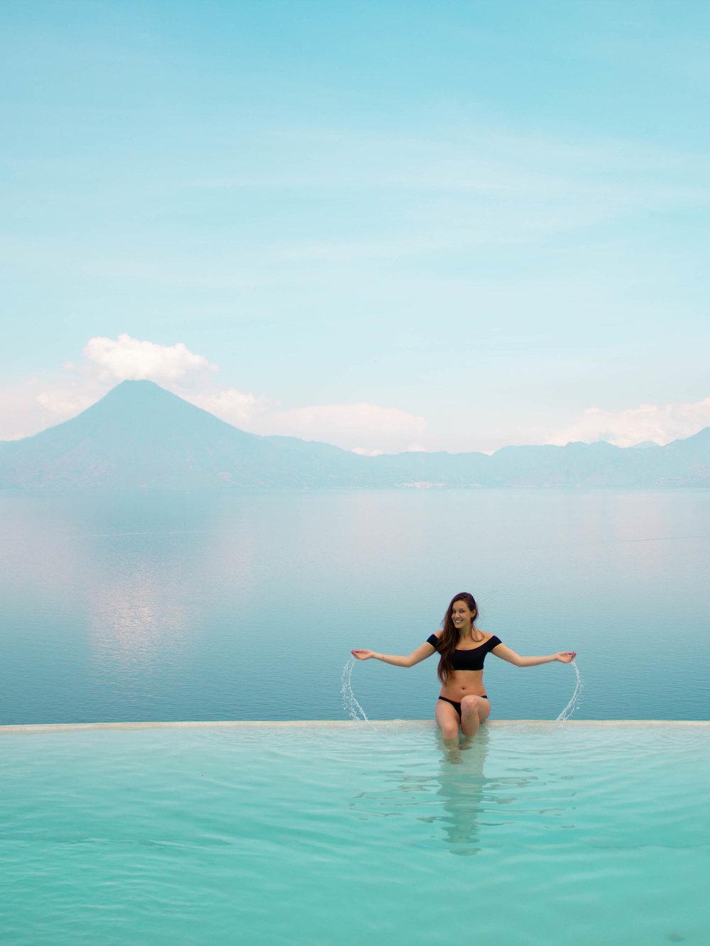 Infinity Pool at Tzampoc Resort
