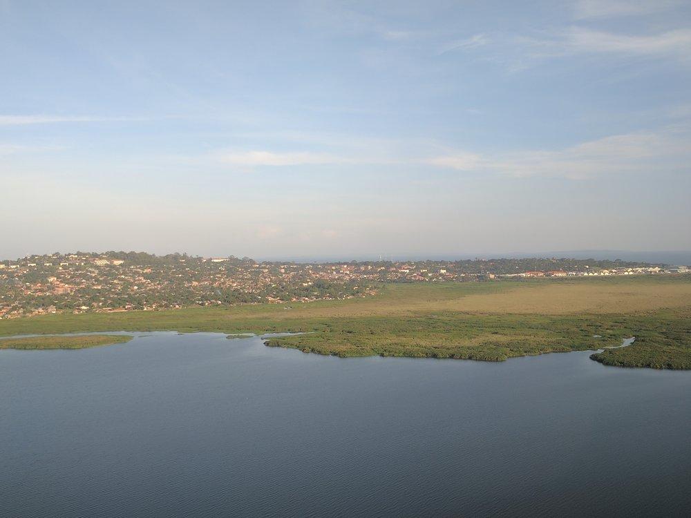Seeing Lake Victoria while landing