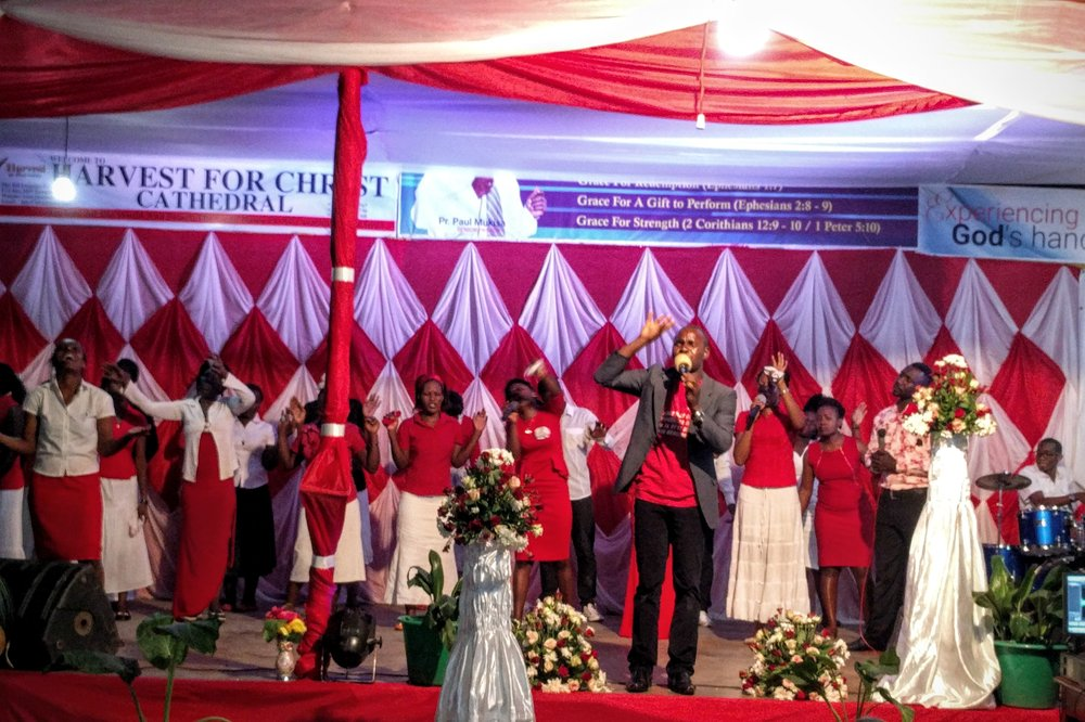 Experiencing a night of worship at Harvest for Christ Church in Kampala – arrived at 8pm and left at 12:30am with it still going