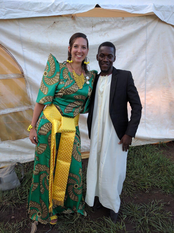 Charles & I in our Buganda cultural wear