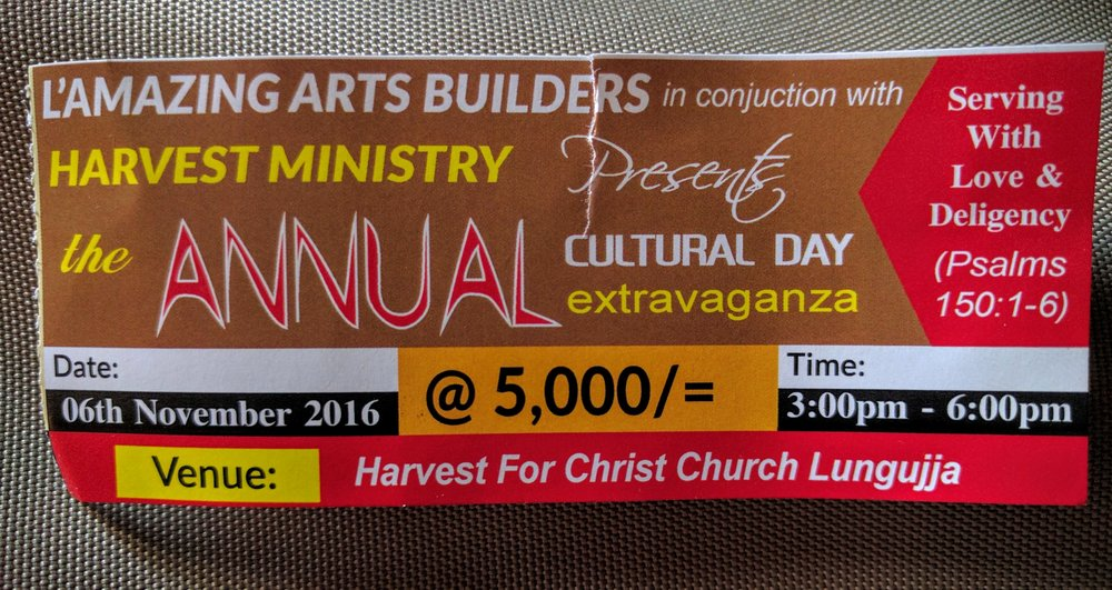 Ticket for the Cultural Event