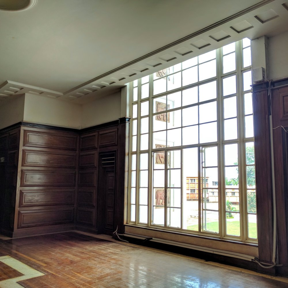 Inside view towards the front window